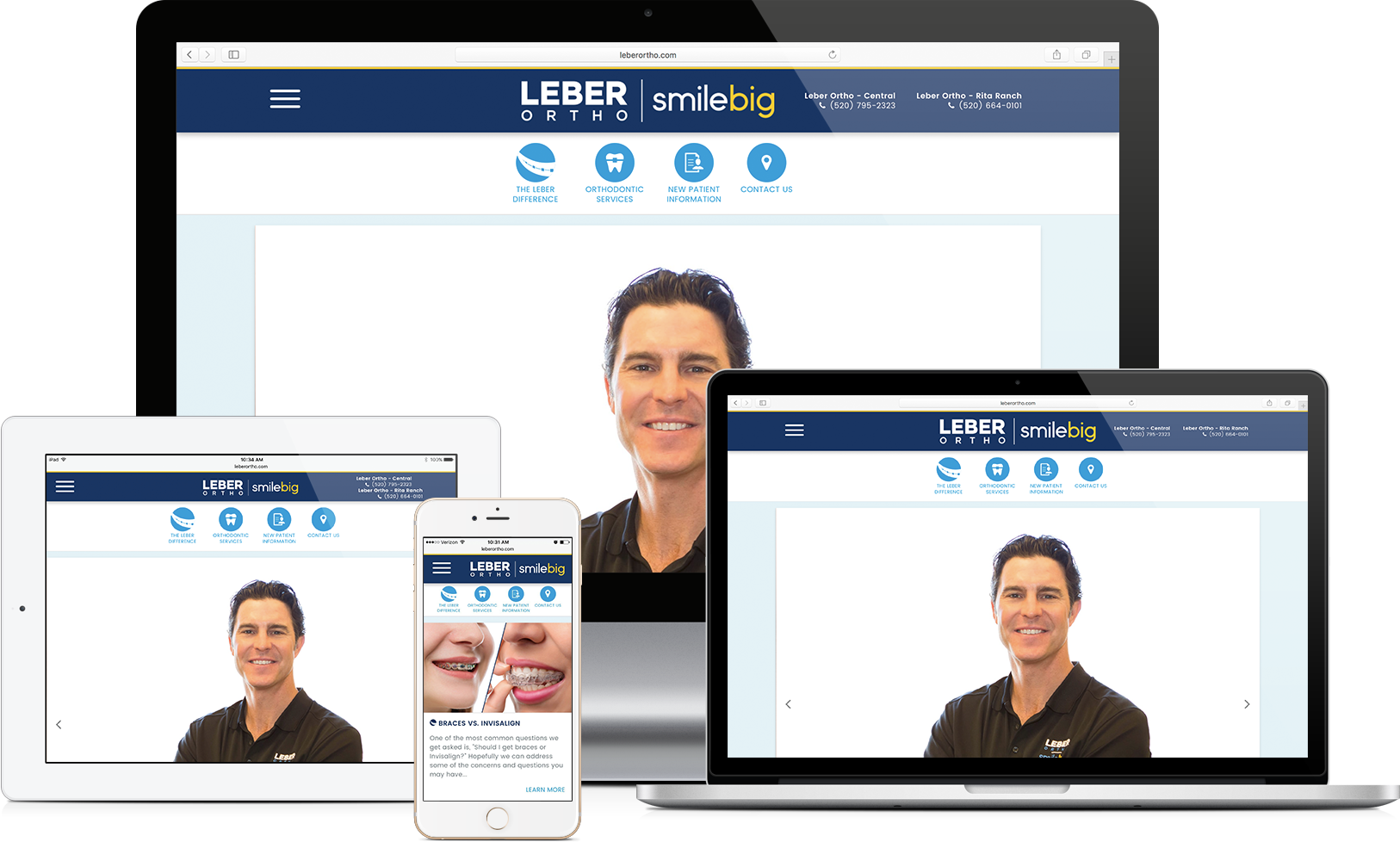 Leber Orthodontics Website