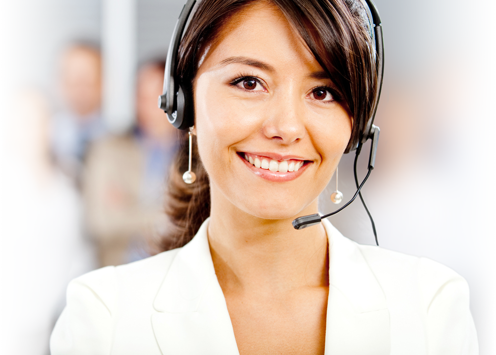 photo of a helpful call center agent